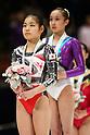 (L to R) Yu Minobe (JPN), Huang Qiushuang (CHN), November 26, 2011 - Artistic Gymnastics : FIG Artistic Gymnastics World Cup, Tokyo Cup 2011 Women's Individual All-round Medal Ceremony at Ryogoku-kokugikan, Tokyo, Japan. (Photo by Daiju Kitamura/AFLO SPORT) [1045]