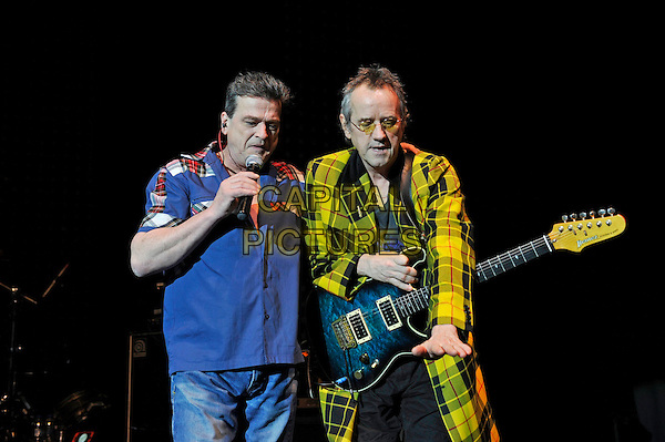 LONDON, ENGLAND - DECEMBER 30: Les McKeown and Stuart Wood of 'Bay City Rollers' performing at Eventim Apollo on December 30, 2015 in London, England.<br /> CAP/MAR<br /> &copy; Martin Harris/Capital Pictures