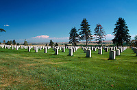 The Little Bighorn National Monument - National Cemetery. Custer Battlefield National Monument, Montana.