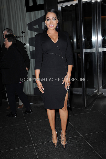 WWW.ACEPIXS.COM<br /> March 30, 2015 New York City<br /> <br /> La La Anthony attending Woman in Gold Screening at the MoMa on March 30, 2015 in New York City. <br /> <br /> By Line: Kristin Callahan/ACE Pictures<br /> ACE Pictures, Inc.<br /> tel: 646 769 0430<br /> Email: info@acepixs.com<br /> www.acepixs.com