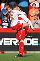 Robin Shroot of Stevenage celebrates with Luke Freeman after scoring thier equaliser. Stevenage v Crewe Alexandra - npower League 1 -  Lamex Stadium, Stevenage - 15th September, 2012. © Kevin Coleman 2012.