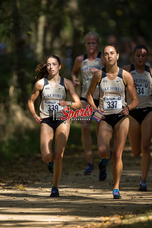 The Wake Forest Demon Deacons women's cross country team competed at the fifth annual Royals Cross Country Challenge at McAlpine Creek Park on October 11, 2014 in Charlotte, North Carolina.  (Brian Westerholt/Sports On Film)