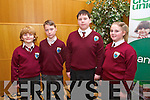 Evan Casey, Thomas Gaynor, HaydanJohnston, Caoimhe Flahvers from Glenderry NS BallyHeigue  at the Chapter 23 Credit Union Schools Quiz finals at Ballyroe Heights Hotel on Sunday