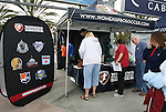 29 March 2009: Fans line up at a league information tent on the concourse. Los Angeles Sol defeated the Washington Freedom 2-0 at the Home Depot Center in Carson, California in a regular season Women's Professional Soccer game. The game was the WPS Inaugural game.