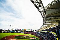 Panoramica de estadio Panamericano de Atletismo<br /> .<br /> Partido de beisbol de la Serie del Caribe con el encuentro entre Caribes de Anzo&aacute;tegui de Venezuela  contra los Criollos de Caguas de Puerto Rico en estadio Panamericano en Guadalajara, M&eacute;xico,  s&aacute;bado 5 feb 2018. <br /> (Foto: Luis Gutierrez)<br /> <br /> Baseball game of the Caribbean Series with the match between Caribes de Anzo&aacute;tegui of Venezuela against the Criollos de Caguas of Puerto Rico, at the Pan American Stadium in Guadalajara, Mexico, Saturday, February 5, 2018.<br /> (Photo: Luis Gutierrez)