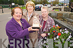 Yvonne Quill, Kathleen Foley and Karina Courtney, Killarney Tidy Towns, pictured on Tuesday in Killarney after the town won Communities In Bloom International Challenge in Canada. ..........