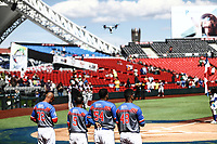 DRONE.<br /> Acciones, durante el partido de beisbol entre<br /> Criollos de Caguas de Puerto Rico contra las &Aacute;guilas Cibae&ntilde;as de Republica Dominicana, durante la Serie del Caribe realizada en estadio Panamericano en Guadalajara, M&eacute;xico,  s&aacute;bado 4 feb 2018. <br /> (Foto  / Luis Gutierrez)