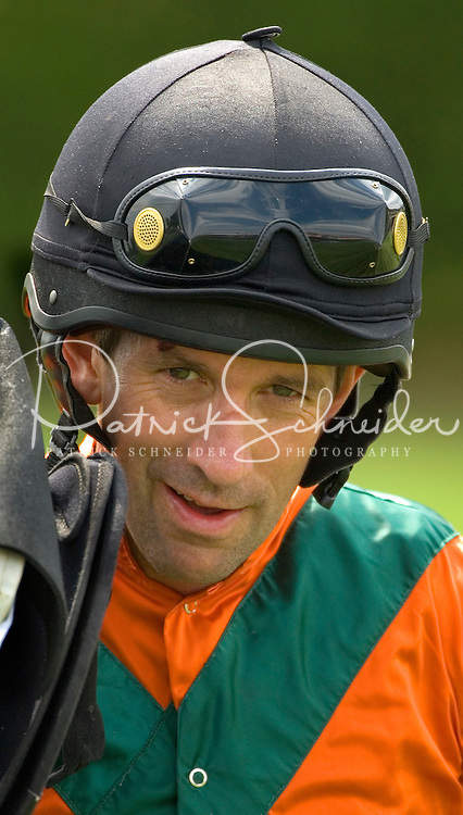 Portrait of a jockey during the Queen's Cup Steeplechase in Mineral Springs, NC.