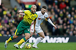 Teemu Pukki of Norwich City and Oliver Norwood of Sheffield United during the Premier League match at Carrow Road, Norwich. Picture date: 8th December 2019. Picture credit should read: James Wilson/Sportimage