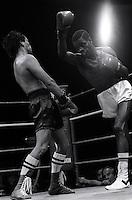 Pix:Michael Steele/SWpix...Boxing. Duke Mackenzie, Boxing , London, 1987...COPYRIGHT PICTURE>>SIMON WILKINSON..Duke Mackenzie, Boxing, London 1987.