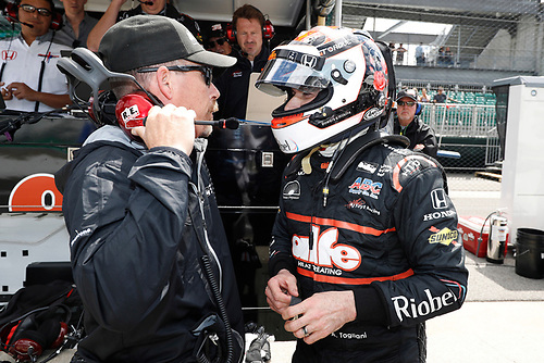 """12-14 May, 2016, Indianapolis, Indiana USA<br /> Kevin """"Rocket"""" Blanch, and Alex Tagliani<br /> ©2016, Michael L. Levitt<br /> LAT Photo USA"""