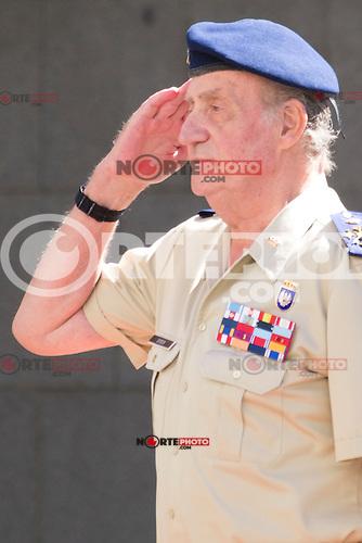 02.08.2012. King Juan Carlos I visits the State Mayor of Defense in Madrid with Pedro Morenes y Alvarez de Eulate, Minister of defense and Fernando Garcia Sanchez, Minister of defense, chief JEMAD. In the image: King Juan Carlos I  (Alterphotos/Marta Gonzalez) /NortePhoto.com<br /> <br /> <br /> **CREDITO*OBLIGATORIO** <br /> *No*Venta*A*Terceros*<br /> *No*Sale*So*third*<br /> *** No Se Permite Hacer Archivo**<br /> *No*Sale*So*third*