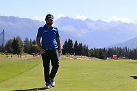 Andy Sullivan (ENG) walks onto the 7th tee during Sunday's Final Round 4 of the 2018 Omega European Masters, held at the Golf Club Crans-Sur-Sierre, Crans Montana, Switzerland. 9th September 2018.<br /> Picture: Eoin Clarke | Golffile<br /> <br /> <br /> All photos usage must carry mandatory copyright credit (© Golffile | Eoin Clarke)