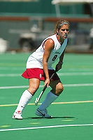 27 August 2005: Hillary Braun during Stanford's 2-1 overtime loss to Miami (Ohio) at the Varsity Turf Field in Stanford, CA.