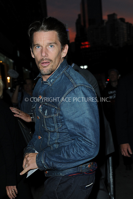 WWW.ACEPIXS.COM<br /> September 22, 2014 New York City<br /> <br /> Ethan Hawke attending 'The Equalizer' New York Screening at AMC Lincoln Square Theater on September 22, 2014 in New York City.<br /> <br /> By Line: Kristin Callahan/ACE Pictures<br /> ACE Pictures, Inc.<br /> tel: 646 769 0430<br /> Email: info@acepixs.com<br /> www.acepixs.com