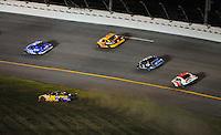 Jul. 5, 2008; Daytona Beach, FL, USA; NASCAR Sprint Cup Series driver Jamie McMurray (26) slides through the infield grass during the Coke Zero 400 at Daytona International Speedway. Mandatory Credit: Mark J. Rebilas-