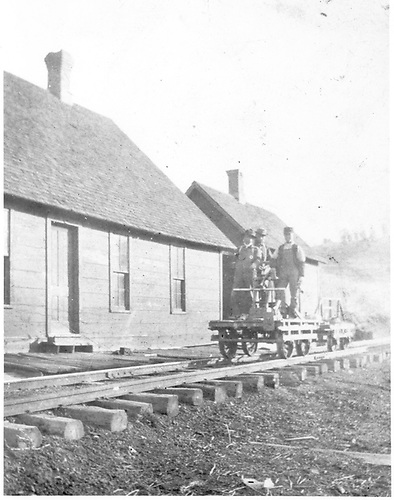 Early view of RGS section house and section crew in Porter around 1910.<br /> RGS  Porter, CO  ca 1910