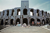 Exterior view of the Colosseum, Rome, Italy, 80 AD
