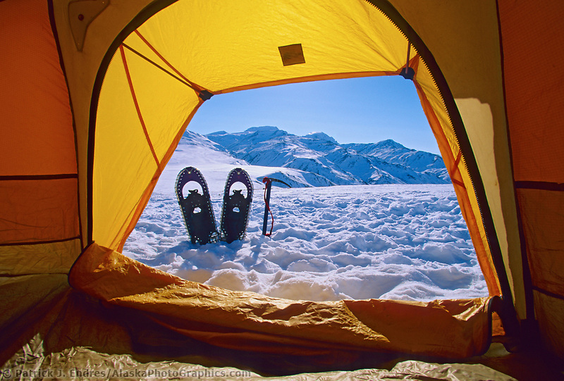 Winter camp, Brooks Range, Arctic, Alaska