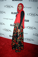 NEW YORK, NY - NOVEMBER 13: Halima Aden attends the 2017 Glamour Women of The Year Awards at Kings Theatre on November 13, 2017 in New York City. <br /> <br /> <br /> People:  Halima Aden<br /> <br /> Transmission Ref:  MNC1<br /> <br /> Hoo-Me.com / MediaPunch