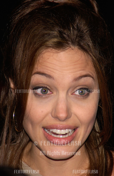 Actress ANGELINA JOLIE at the world premiere, in Hollywood, of her new movie Taking Lives..March 16, 2004