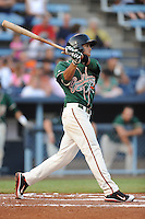 Greensboro Grasshoppers second baseman Noah Perio #2 swings at a pitch during the second game of a double header against the Asheville Tourists at McCormick Field on July 26, 2011 in Asheville, North Carolina. Greensboro won the game 5-3.   (Tony Farlow/Four Seam Images)