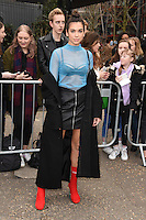 Dua Lipa<br /> arrives for the Topshop Unique AW17 show as part of London Fashion Week AW17 at Tate Modern, London.<br /> <br /> <br /> &copy;Ash Knotek  D3232  19/02/2017