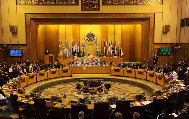 Heads of Arab Parliaments attend a meeting at the Arab League headquarters in Cairo, Egypt, on Feb. 11, 2017. Photo by Stranger