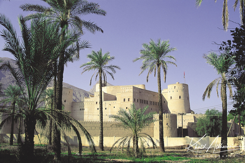 Rustaq fort, originally known as Qalat Al Kisra, was built in the 13th century. It located in Wilayat AlRustaq