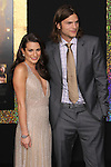 """LEA MICHELE, ASHTON KUTCHER. World Premiere of Warner Brothers Pictures' """"New Year's Eve,"""" at Grauman's Chinese Theatre. Hollywood, CA USA. December 5, 2011.©CelphImage"""