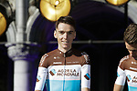 Romain Bardet (FRA) AG2R La Mondiale at the team presentation held on the Grand-Place before the 2019 Tour de France starting in Brussels, Belgium. 4th July 2019<br /> Picture: Colin Flockton | Cyclefile<br /> All photos usage must carry mandatory copyright credit (© Cyclefile | Colin Flockton)