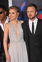 Aaron Paul &amp; Imogen Poots at the U.S. premiere of their movie &quot;Need for Speed&quot; at the TCL Chinese Theatre, Hollywood.<br /> March 6, 2014  Los Angeles, CA<br /> Picture: Paul Smith / Featureflash