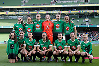 3rd November 2019; Aviva Stadium, Dublin, Leinster, Ireland; FAI Cup Womens Final Football, Peamount United versus Wexford Youth Womens Football Club; The Peamount team pose for a tam photo prior to kickoff - Editorial Use