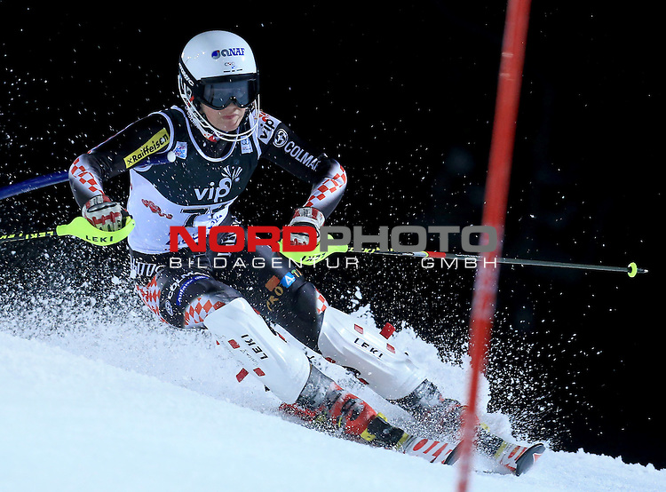 04.01.2013., Sljeme, Zagreb - Ladies Slalom race  &quot;Vip Snow Queen Trophy&quot; Zagreb-Sljeme 2013.<br /> Andrea Komsic<br /> <br /> Foto &copy;  nph / PIXSELL / Jurica Galoic