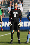 08 November 2009: North Carolina's Ashlyn Harris. The University of North Carolina Tar Heels defeated the Florida State University Seminoles 3-0 at WakeMed Stadium in Cary, North Carolina in the Atlantic Coast Conference Women's Soccer Tournament Championship game.