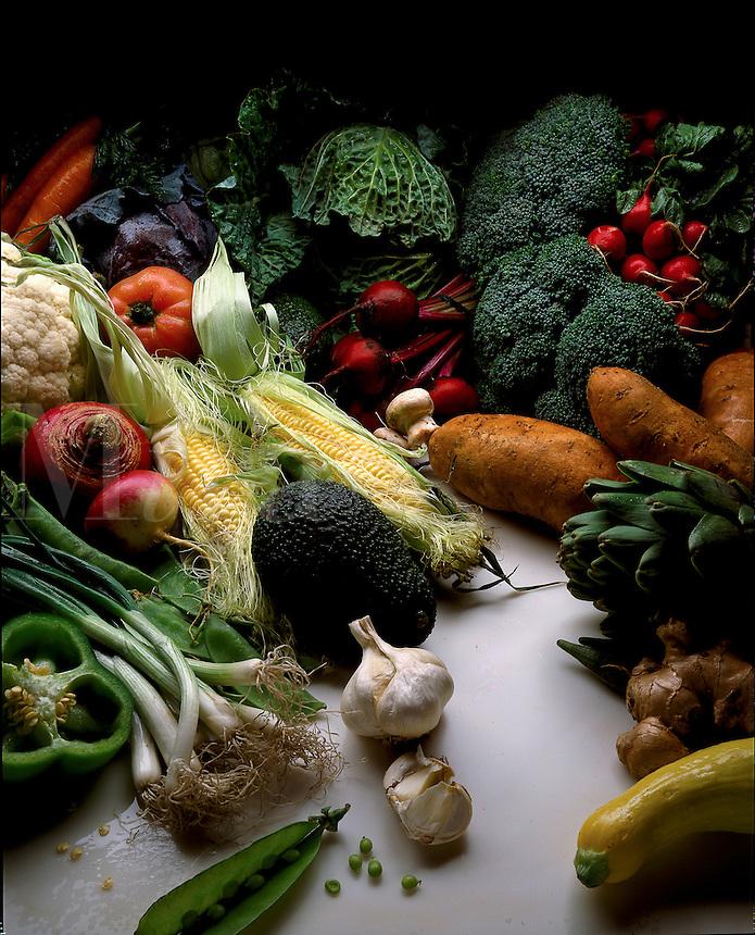 Assorted fresh produce.