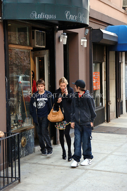 WWW.ACEPIXS.COM . . . . .  ....**EXCLUSIVE-FEE MUST BE AGREED BEFORE USE**....March 6 2006, New York City....British supermodel Kate Moss went shopping in the East Village with two young lads in tow. ....Please byline: BRETT KAFFEE-ACEPIXS.COM.... *** ***..Ace Pictures, Inc:  ..Philip Vaughan (212) 243-8787 or (646) 769 0430..e-mail: info@acepixs.com..web: http://www.acepixs.com