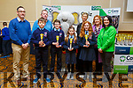 Ardfert NS students, runners up in the U11 Quiz at the Cara Credit Union Quiz in the Brandon Hotel on Sunday. <br /> Students l to r: Alex Thornton, Thomas O'Connor, Hazel O'Sullivan, Maura O'Connor with Pa Laide (Manager Cara Credit Union), Tomás Hannafin (Teacher), Caroline Sugrue, Betty Stack (Principal) and Siobhan Donnelly (Cara Credit Union)