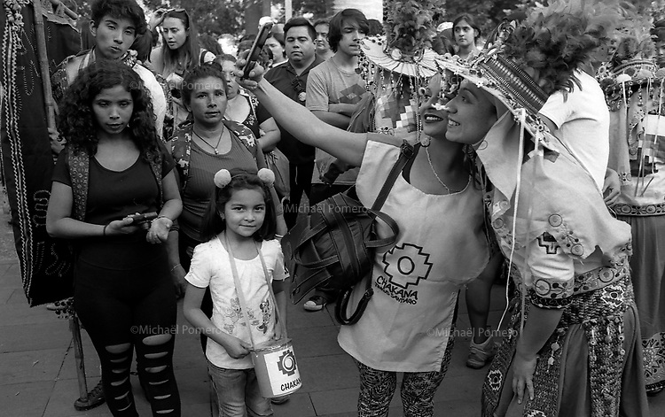 Santiago (Chile) 2018<br /> <br /> Jour de la Pachamama a Plaza de Armas.<br /> <br /> Pachamama day in Plaza de armas.