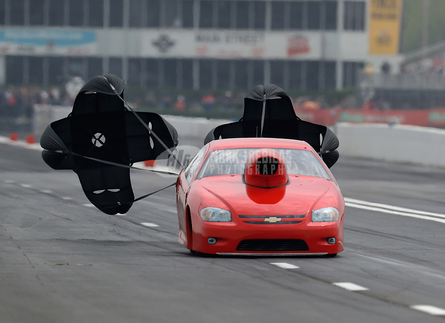 Apr 14, 2019; Baytown, TX, USA; NHRA mountain motor pro stock driver Rick Cowger during the Springnationals at Houston Raceway Park. Mandatory Credit: Mark J. Rebilas-USA TODAY Sports
