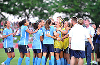 Boyds, MD - Saturday June 25, 2016: Sky Blue FC goal celebration prior to a United States National Women's Soccer League (NWSL) match between the Washington Spirit and Sky Blue FC at Maureen Hendricks Field, Maryland SoccerPlex.
