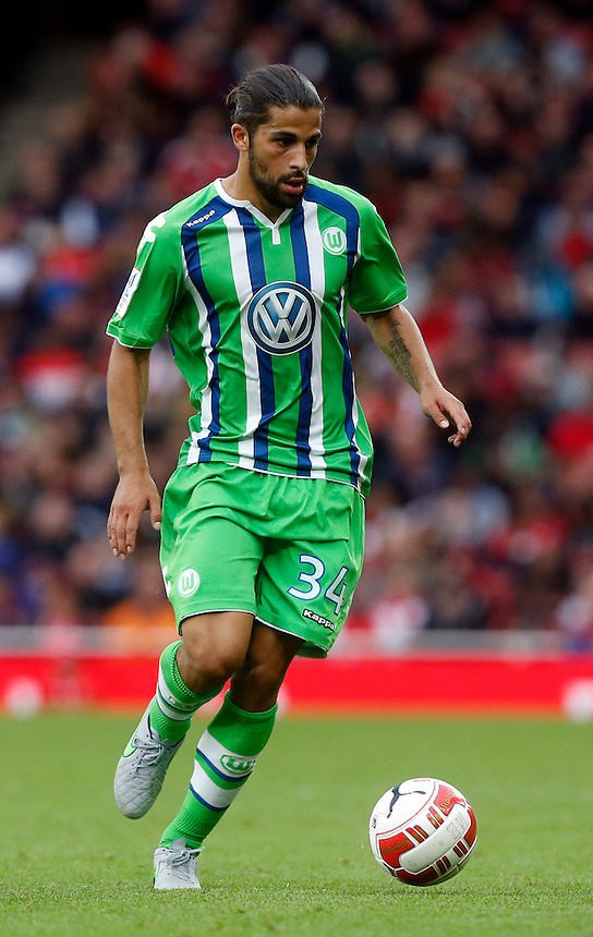 Vfl Wolfsburg's Ricardo Rodr&iacute;guez<br /> <br /> Photographer Kieran Galvin/CameraSport<br /> <br /> Football - Emirates Cup - Arsenal v Wolfsburg - Sunday 26th July 2015 - Emirates Stadium - London <br /> <br /> &copy; CameraSport - 43 Linden Ave. Countesthorpe. Leicester. England. LE8 5PG - Tel: +44 (0) 116 277 4147 - admin@camerasport.com - www.camerasport.com