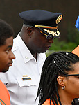 St. Louis Police Chief John Hayden walks in the Wear Orange Day March against gun violence on North Grand Boulevard on Saturday June 2, 2018. June is National Gun Violence Awareness Month.<br /> Photo by Tim Vizer