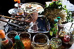Ingredients for soup, at a market, in Phnom Penh, Cambodia