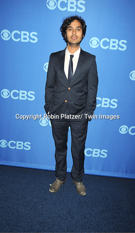 cast of The Big Bang Theory , Kunal Nayyar attend the CBS Prime Time 2013 Upfront on May 15, 2013 at Lincoln Center in New York City.
