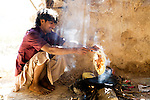 Bedouin making local bread, Hawf Protected Area, Yemen