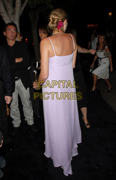 HEIDI KLUM.attends The Entertainment Weekly Pre-Emmy Party held at Republic in West Hollywood, California, USA,.August 26, 2006..full length pregnant long white lilac dress back behind pink flower in hair clip.Ref: DVS.www.capitalpictures.com.sales@capitalpictures.com.©Debbie VanStory/Capital Pictures