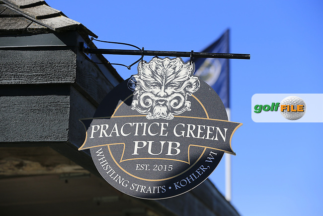 Practice Green Pub during Tuesday's Practice Day of the 97th US PGA Championship 2015 held at Whistling Straits, Mosel, Kohler, Wisconsin, United States of America. 11/08/2015.<br /> Picture Eoin Clarke, www.golffile.ie