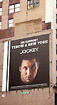 Tim Tebow's photogenic kisser - and nothing more - is taking center stage on a billboard advertising Jockey brand underwear and also welcoming the former Denver Bronco to his new team, the New York Jets.  Times Square on August 26, 2012 in New York City.