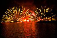 IllumiNations:Reflections of Earth fireworks and laser show,World Showcase Lagoon,  Epcot, Walt Disney World, Orlando, Florida USA
